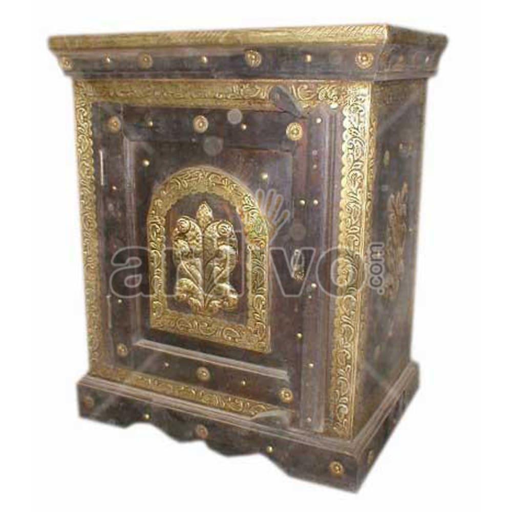 Restored Brown Lavish Solid Wooden Teak Almirah