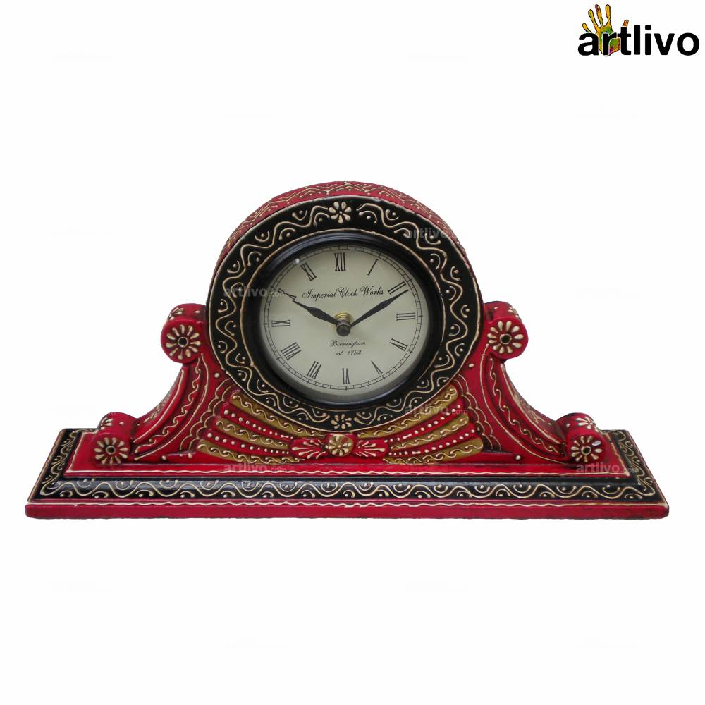 BOLD RED Table Clock