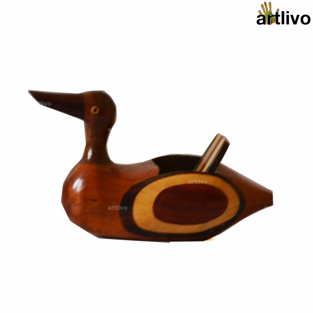 Wooden Duck Card Holder