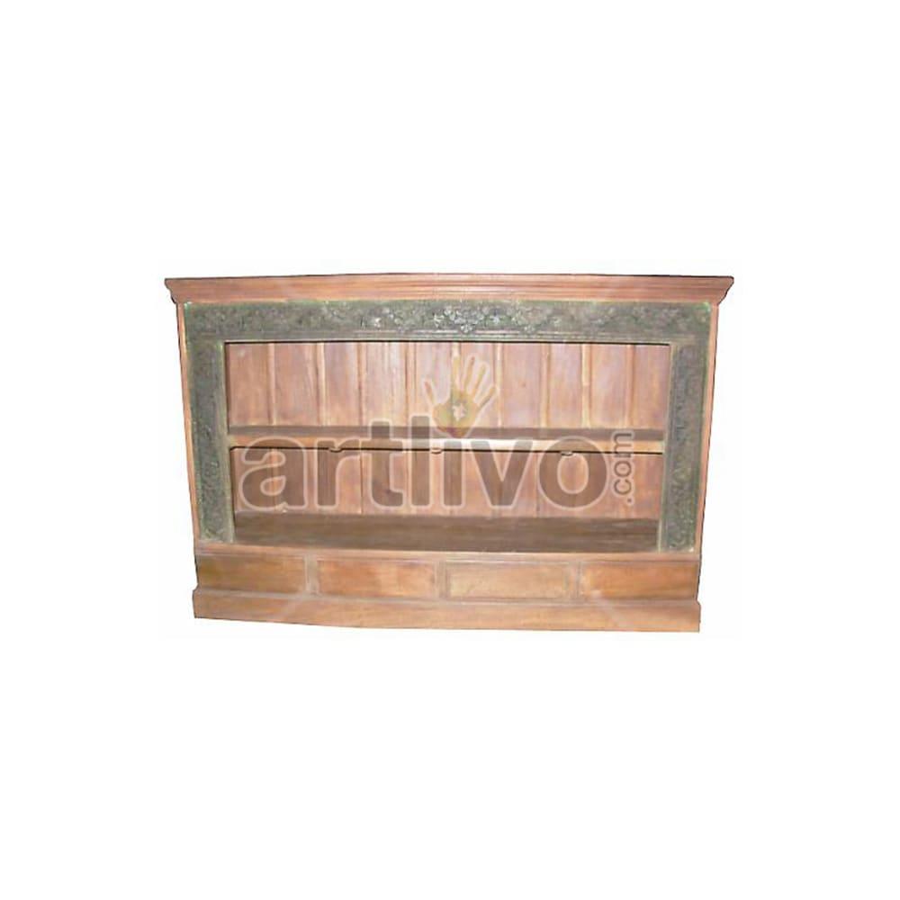 Old Indian Beautiful Supreme Solid Wooden Teak Sideboard
