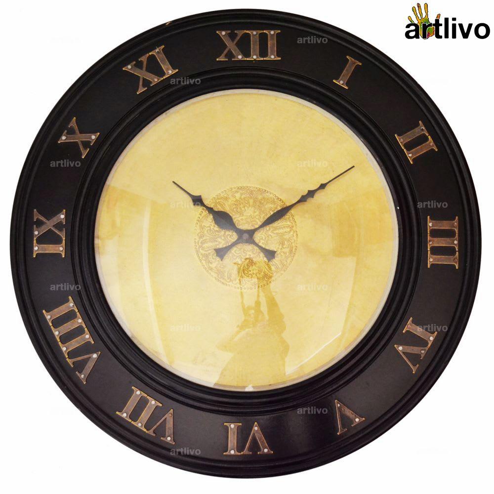 UBER ELEGANT Round Roman Wall Clock