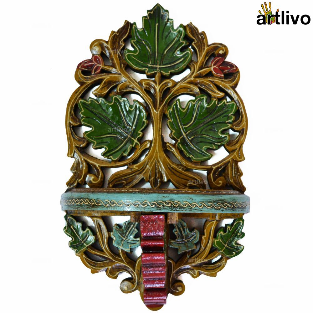 EMBOSSED Multicolored Folding Leaf Wall Bracket