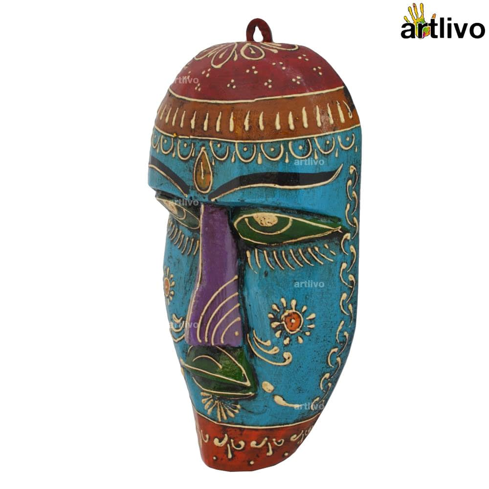 EMBOSSED Wall Hanging Mask - Blue