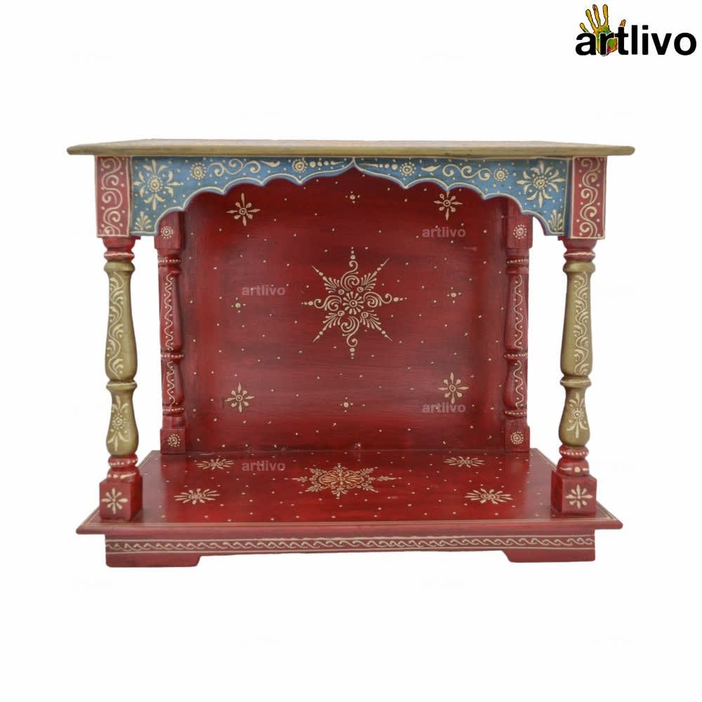Blue - Red EMBOSSED Tapered Temple