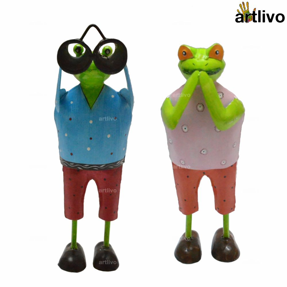 POPART Vacation Frogs showpiece - Set of 2 - ST077