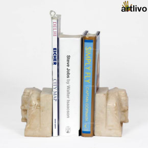 Marble Elephant Bookend