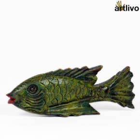 POPART Green Fish with Red Lips