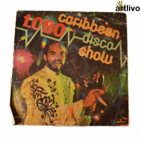 VINTAGE Gramophone Record - Caribbean LOBO Disco Show (With Cover)