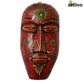 BOLD RED Closed Eyes Mask