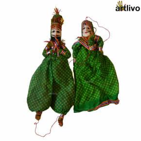 POPART Green Kathputli Puppet Set