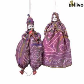 """POPART Purple Chundri Kathputli Puppet Set 20"""""""