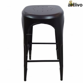 POPART French Bar Stool - Black