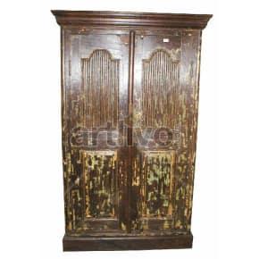 Vintage Indian Beautiful Royal Solid Wooden Teak Almirah