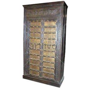 Vintage Indian Beautiful Splendid Solid Wooden Teak Almirah