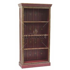 Vintage Indian Brown Extravagant Solid Wooden Teak Bookshelf