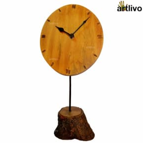 ECOLOG Rustic Raw Wooden Table Clock