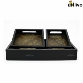 UBER ELEGANT 3pc Tray Set