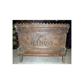 Antique Indian Carved Marvellous Solid Wood brown color with chiseled wood Trunk