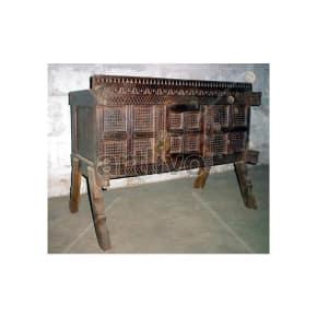 Antique Indian Beautiful Lavish Solid Wood chiseled design Trunk