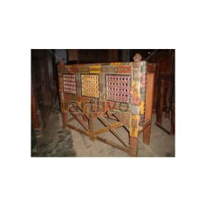 Antique Indian Beautiful imperial Solid Wood colorfull design Trunk