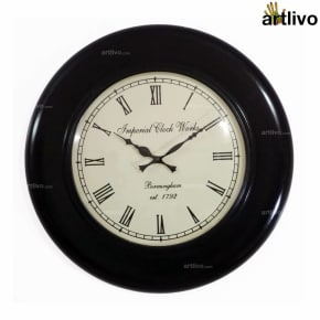 UBER ELEGANT Shield Round Wall Clock 18""