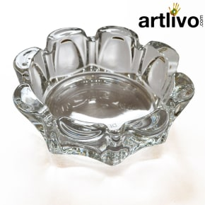 Glass Flower shaped ashtray