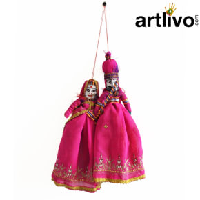 POPART Pink Chundri Kathputli Puppet Set