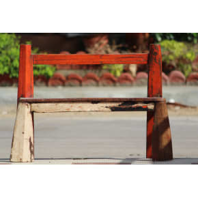 ECOLOG Wooden Red Baby Bench