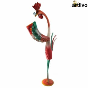 POPART Nerdy Book Reading Rooster showpiece