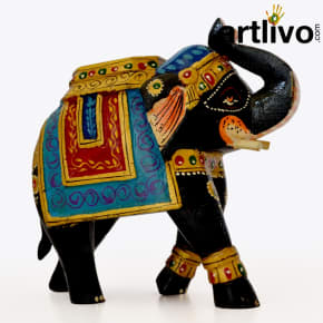 Wooden Elephant Statue - ST090