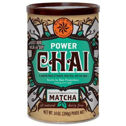Power Chai Matcha Instant Tea från David Rio. 398 gram
