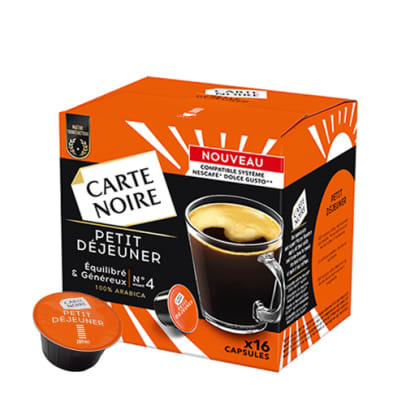 Carte Noire Petit Déjeuner package and capsule for Dolce Gusto