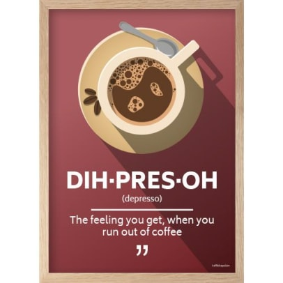 Great coffee poster with quote
