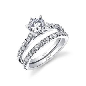 Silver Elegant Flower Engagement
