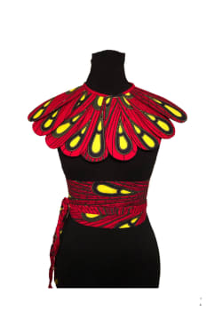 Ankara - Set Bib and Belt, African print