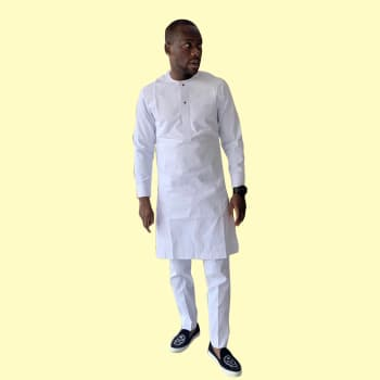 Cossly Men Kaftan White