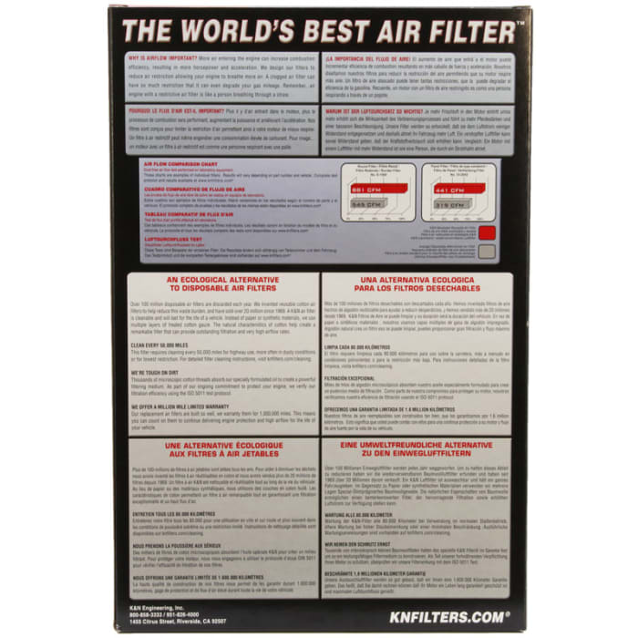K/&N 33-2252 Hi-Flow Air Intake Drop in Filter for Lotus Toyota *See Detail*