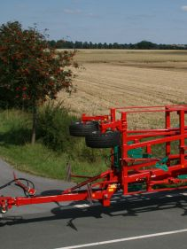 Kverneland CTC Cultivator compact while being transported