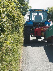 Kverneland 2500 H, transported on road