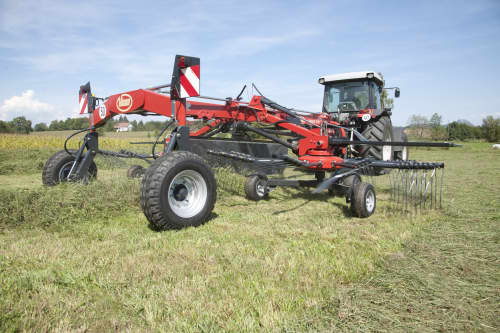 Double Rotor Rakes - VICON ANDEX 644-724-724 HYDRO-764, cost efficient and strong frames for a long lifetime also CompactLine maintanence friendly gearbox