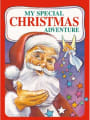 Personalised Christmas Adventure Open Book Cover