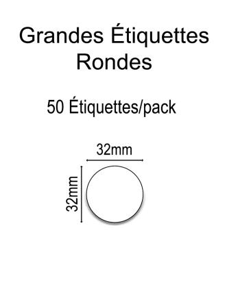 Grandes Étiquettes Rondes