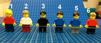 Personaggio LEGO® portachiavi personalizzato