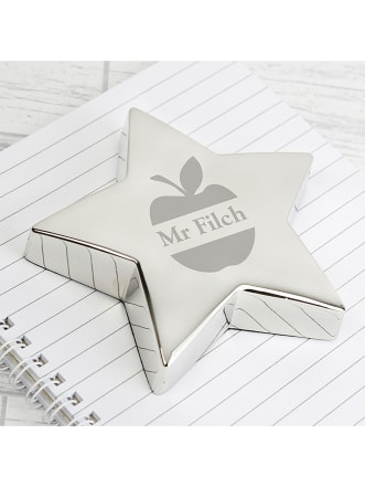 Personalised Apple Star Paperweight