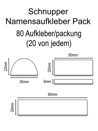 Vinylaufkleber Schnupperpack