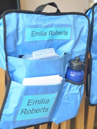 Stuhltasche für Kinder Schulsachen und Hefte