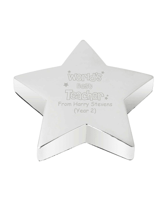 World's Best Teacher Personalised Paperweight