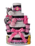 Lil' Zebra 4 Tier Diaper Cake