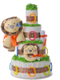 Welcome to the Circus Baby Diaper Cake by Lil' Baby Cakes