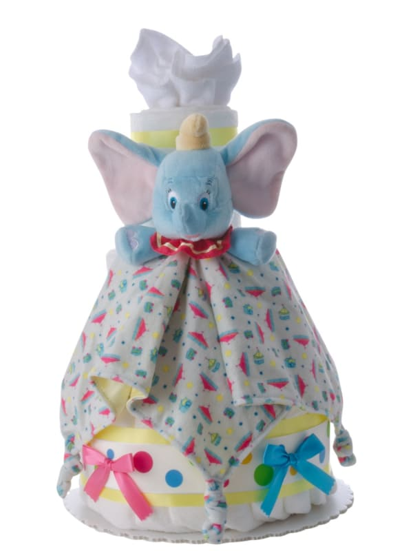 Dumbo the Elephant Baby Diaper Cake
